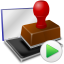 Rubber stamp icon png